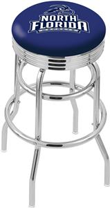 Univ North Florida Ribbed Double-Ring Bar Stool