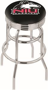 Univ Northern Illinois Ribbed Double-Ring Stool