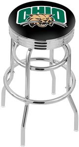 Ohio University Ribbed Double-Ring Bar Stool
