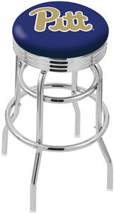 Univ of Pittsburgh Ribbed Double-Ring Bar Stool