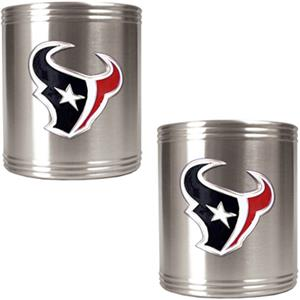 NFL Houston Texans Stainless Steel Can Holders