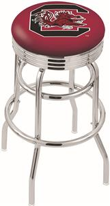 Univ South Carolina Ribbed Double-Ring Bar Stool