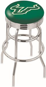 Univ of South Florida Ribbed Double-Ring Bar Stool
