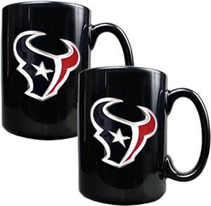 NFL Houston Texans Black Ceramic Mug (Set of 2)