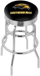 Univ Southern Mississippi Ribbed Double-Ring Stool
