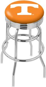 University Tennessee Ribbed Double-Ring Bar Stool