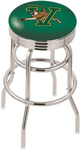 University of Vermont Ribbed Double-Ring Bar Stool