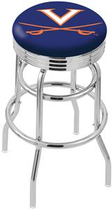 University Virginia Ribbed Double-Ring Bar Stool