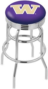 Univ of Washington Ribbed Double-Ring Bar Stool
