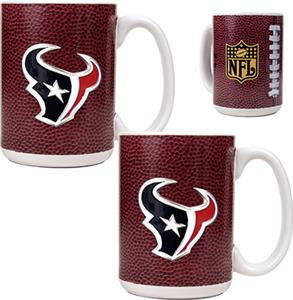 NFL Houston Texans Gameball Mug (Set of 2)