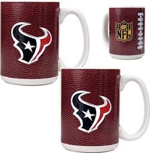 NFL Houston Texans Gameball Mug (Set of 2)