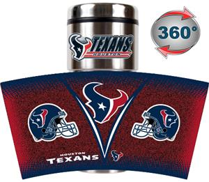 NFL Houston Texans Tumbler (Logo & Team Name)