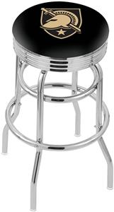 US Military Academy Ribbed Double-Ring Bar Stool