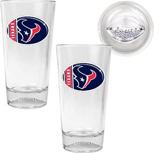 NFL Houston Texans 2 Piece Pint Glass Set