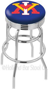 Virginia Military Inst Ribbed Double-Ring Stool