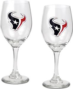 NFL Houston Texans 2 Piece Wine Glass Set