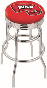 Western Kentucky Univ Ribbed Double-Ring Bar Stool