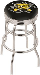 Wichita State Univ Ribbed Double-Ring Bar Stool