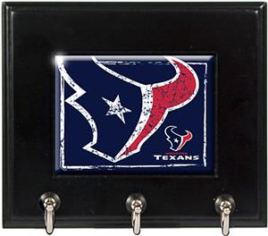 NFL Houston Texans Wood Keyhook Rack