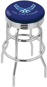 U.S. Air Force Ribbed Double-Ring Bar Stool
