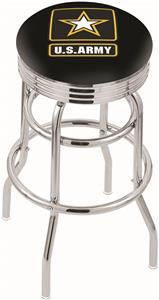 United States Army Ribbed Double-Ring Bar Stool