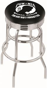 Holland POW/MIA Ribbed Double-Ring Bar Stool