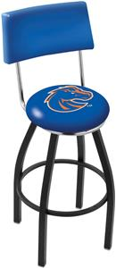 Boise State University Swivel Back Bar Stool