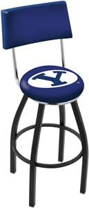 Brigham Young University Swivel Back Bar Stool