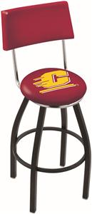Central Michigan University Swivel Back Bar Stool