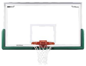FIBA Center-Strut Basketball Glass Backboard