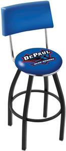 DePaul University Swivel Back Bar Stool
