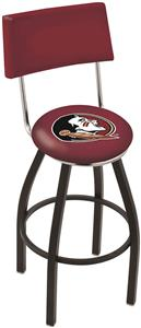 Florida State Head Swivel Back Bar Stool