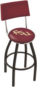 Florida State Script Swivel Back Bar Stool