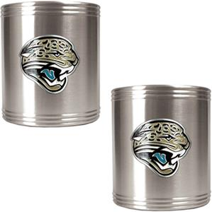 NFL Jaguars Stainless Steel Can Holders