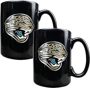 NFL Jaguars Black Ceramic Mug (Set of 2)