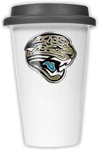 NFL Jacksonville Jaguars Ceramic Cup w/Black Lid