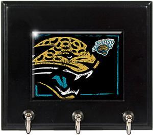 NFL Jacksonville Jaguars Wood Keyhook Rack