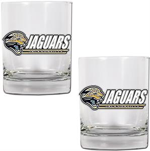 NFL Jacksonville Jaguars 2 piece Rocks Glass Set