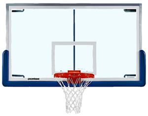 "Pro-Strut Glass Basketball Backboard-72""x42"""