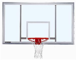 "Rectangular Basketball Glass Backboard - 72"" x 42"""