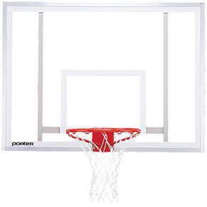 "Rectangular Basketball Glass Backboard 54"" x 39"""
