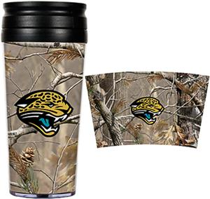 NFL Jaguars 16oz Realtree Travel Tumbler