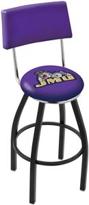 James Madison University Swivel Back Bar Stool