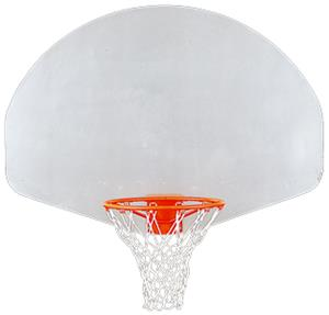 Porter Fan Natural Aluminum Basketball Backboard