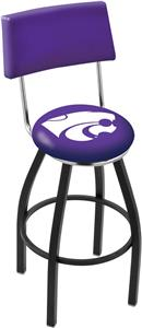 Kansas State University Swivel Back Bar Stool