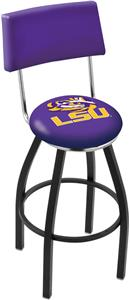 Louisiana State University Swivel Back Bar Stool
