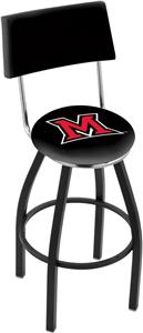 Miami University (OH) Swivel Back Bar Stool