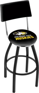 Michigan Tech University Swivel Back Bar Stool