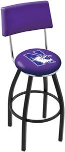 Northwestern University Swivel Back Bar Stool