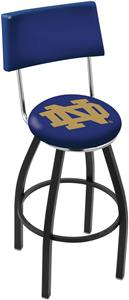 Holland Notre Dame (ND) Swivel Back Bar Stool